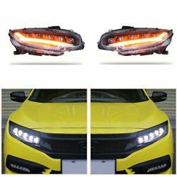 For Honda Civic 16-19 Led Drl Replace Factory Headlights Led Headlights Assembly