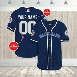 Custom Name Toronto Blue Jays All Over Print Baseball Jersey Personalized S-4xl