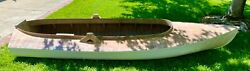Rare Vintage 1930s Thompson Hand Made 12 Foot Wood Duck Boat Beautiful