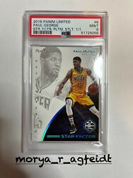 True 1/1 Paul George Limited Star Factor Pacers One Of One Psa 9 Clippers