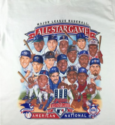 Mlb Baseball All-star Game Caricature White S-234xl For Fans Shirt Y212