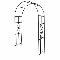 Garden Arch Wrought Iron Plant Climbing Frame Rack For Roses Vines Gardening Zi