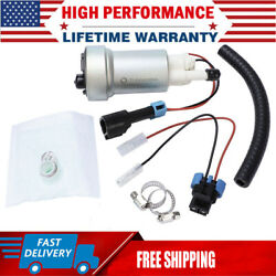F90000267 Racing 450lph High Pressure Fuel Pump W/ Install Kit E85 For Walbro