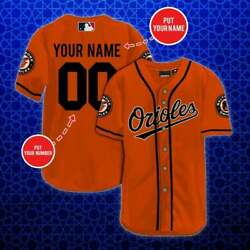 Personalized Mlb Baltimore Orioles Baseball Jersey Custom Name Number Gift Fan
