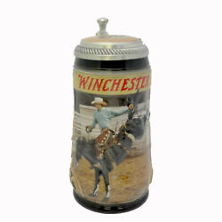 Anheuser-busch Saddle Bronc Riding Stein Ceramic Rodeo Winchester Gm25