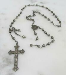 Vintage Sterling Silver Rosary For Repair And039as Isand039 19.2 Grams 13-g2508