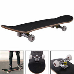 New Blank Complete Skateboard Stained Black 31 X 7.75 Ready To Ride