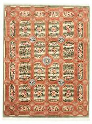 Hand-knotted Carpet 9'2 X 12'0 Traditional Vintage Wool Rug