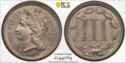 1877 3cn Three Cent Nickel Pcgs Pr 63 Proof Only Issue Key Date Original Coin...