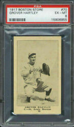 1917 H801-8 Boston Store 70 Grover Hartley Psa 6 St. Louis Browns