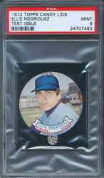 1972 Topps Candy Lids Test Issue Ellie Rodriguez Psa 9 Milwaukee Brewers