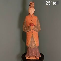 Antique Chinese Large Tang Dynasty Tomb/figure Attendant