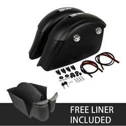 Saddlebags Electronic Latch+carpet Liner Fit For Indian Croadmaster 2015-2018 17