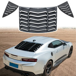 Rear And Side Window Windshield Louvers Fit For Chevrolet Chevy Camaro 2010-2015