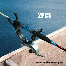2pack Fishing Boat Holder Clamp On Boat Rail Fishing Rod Pole Rest Holder Stand