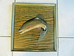 Abercrombie And Finch 1932 Rainbow Trout Artist Carved And Painted Store Sign
