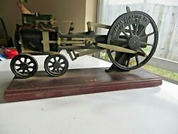 1900and039s Hit-n-miss Patent Demo Display Steam Engine Hand Crank Beautiful Display