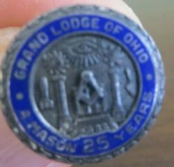 Grand Lodge Of Ohio A Mason 25 Years Service Sterling Silver,the Moulet Co
