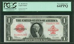 U.s. 1923 1 Legal Tender Banknote Fr-40 Pcgs Certified Very Choice New-64ppq