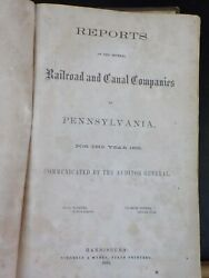 Reports Of The Several Railroad And Canal Companies Of Pennsylvania For 1865