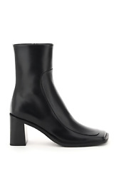 New The Row Patch Leather Ankle Boots F1199 L52 Black Authentic Nwt