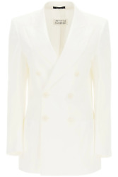New Maison Margiela Double-breasted Blazer S51bn0404 S53687 Off White Authentic