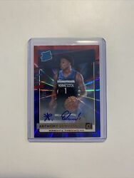 2020-21 Donruss Anthony Edwards Rated Rookie Auto /20 Red Blue Laser