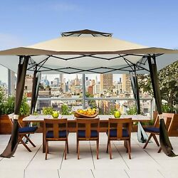 13'x13' Patios Outdoor Canopy Vented Top Steel Gazebo Bbq Wedding Party Tent