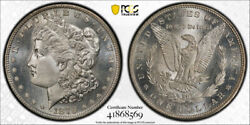 1879 S 1 Morgan Dollar Pcgs Ms 67 Uncirculated Exceptional Cac Approved Stun...