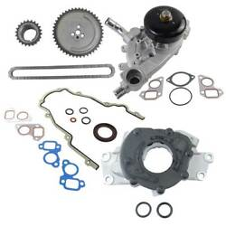 Timing Chain Kit Cover Gasket Water Oil Pump Fit Chevy Gmc Pontiac 4.8 5.3 6.0
