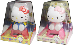 Solar Powered Hello Kitty Figure Toy X2 Fast Shipping From Japan