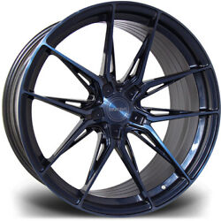 Alloy Wheels 20 Riviera Rf107 Black/blue For Bmw 6 Series Gran Coupe F06 12-18