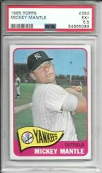 Mickey Mantle 1965 Topps Psa 5.5 Centered/just Graded/high End Beautyhofer