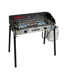 Camp Chef Yukon 2 Burner Outdoor Camping Stove Kitchen 3-sided Windscreen New