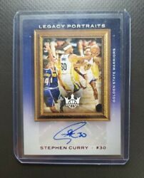 2020-21 Panini Court Kings Stephen Curry Legacy Portraits Auto /35 Golden State