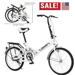 Folding City Bicycle 7 Speed Bike 20 Inch Steel Frame-quality Urban Commuters Us