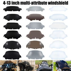 4.5 5 6'' 7 8'' 9 10.5 Square Round Windshield Fit For Harley Street Glide