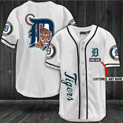Personalized You Detroit Tigers Baseball Jersey Custom Name Size S-4xl