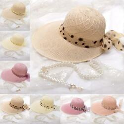 Summer Hats For Beach For Womens Visors Hats Wide Brim Hats TravelFoldable FAST $8.46