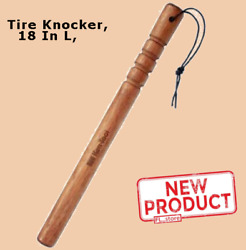 Tire Knocker Solid Us Hickory Wood Attached Strap Fish Bat Thumper Tires Tool