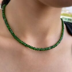 80 Ct Chrome Diopside Beads Chrome Diopside Necklace Diopside Beads 18 Inch