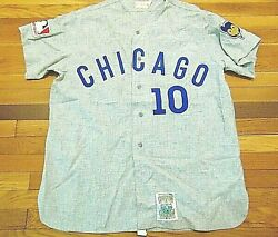 Vintage 80's Rare Mlb Mitchell And Ness Chicago Cubs Ron Santo Jersey Size Xl