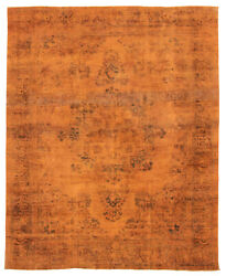 Hand-knotted Turkish Carpet 9'2 X 11'1 Color Transition Traditional Wool Rug