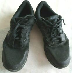 Sz.10 Nike Mesh Lace Up Waffle Sole Walking/cross-fit Athletic Shoes,solid Black