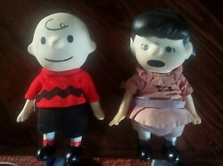 Peanuts Gang Pocket Dolls Set 2 Charlie Brown Lucy 1966 7 Tall With Clothes