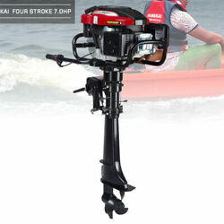 4-stroke 7hp Outboard Motor 173cc Boat Engine Motor Air Cooling System Propeller