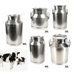 20-60l Milk Storage Can /bucket /milk Pail /bucket Containers Stainless Steel