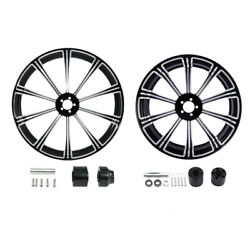 21 Front 18'' Rear Wheel Rim And Disc Hub Fit For Harley Road Glide Non Abs 08-21