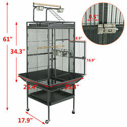 61quot; Large Bird Cage Large Play Top Parrot Finch Cage Pet Supplies Removable Part