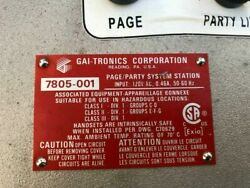 Gai-tronics 7805-001 Indoor Explosion Proof Page/ Party Phone System Handset 2